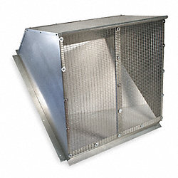 Weather Hood, 24 In, Galvanized Steel