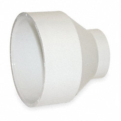 Pipe Reducer or Increaser, PVC, 2x1 1/2 In