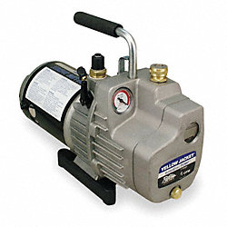 Evacuation Pump, 6.0 cfm, 1/2 HP, 8 ft.