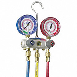 Manifold Gauge and Hose Set, 2 Valves