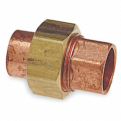Union, C x C Connection, 1 In, Wrot Copper