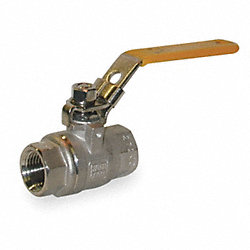 Ball Valve, Two Piece, 1/2 In, 316 SS Body