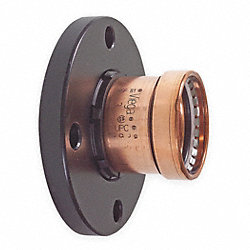 Adapter Flange, 4 x 4 In, Copper, 200 PSI