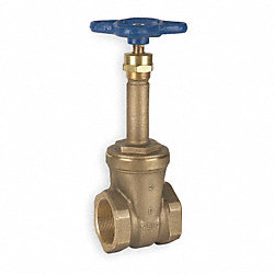 Gate Valve, 3/8 In FNPT, Bronze, 150 PSI