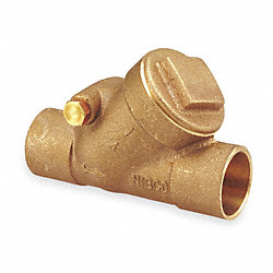 Swing Check Valve, 3/8 In, Solder, Bronze