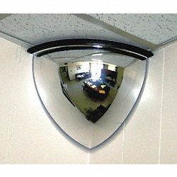 Quarter Dome Mirror, 18In., ABS Plastic