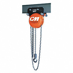 Trolley Hoist, Man., Chain, 1/2T, Geared
