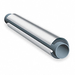 Pipe Insulation, Aluminum Cladding