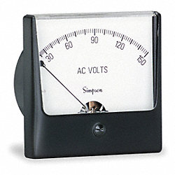 Analog Panel Meter, AC Voltage, 0-150 AC V