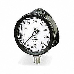 Gauge, Filled Process, 4 1/2 In, 100 Psi