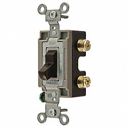 Toggle Switch, 1P, 20A, Brown, Specification