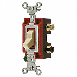 Wall Switch, Toggle, 4 Way, 20A, 2 HP, Ivory