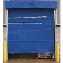 Mesh Door, Spring Assist, 12 Ft H x 12 Ft