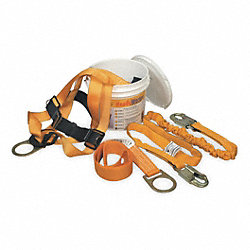 Fall Protection Kit, Univ., 310 lb, 6 ft. L