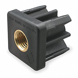 Square Tube End, 1/2-13 Thread