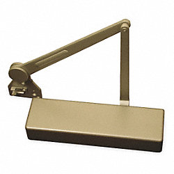 Door Closer, Aluminum, Full Cover