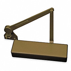 Door Closer, Dark Bronze, Full