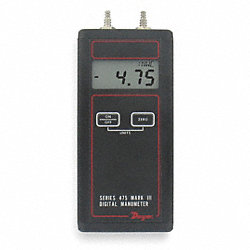 Handheld Manometer, 0 to 200.0 In WC