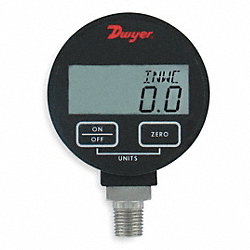 Digital Pressure Gauge, Range 500 PSI