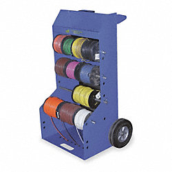 Wire Reel Caddy, Portable, 10 Inch Wheels