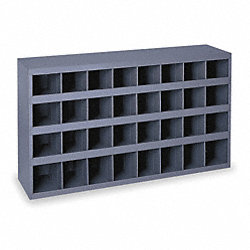 Stackable Bin Storage Unit, 32 Bins, Gray