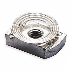Channel Nut w/ Top Spring, 3/8-16 In