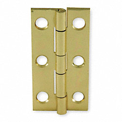 Utility Hinge, Narrow, Brass, PK 2