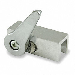 Window and Door Lock, Alum, L 2 3/4 In