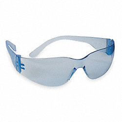 Safety Glasses, Light Blue, Scrtch-Rsstnt