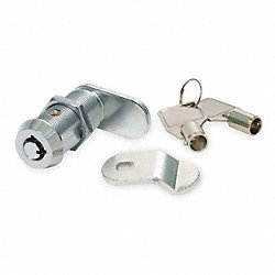 Tubular Key Cam Lock, Keyed Alike, Chrome