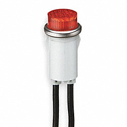 Raised Indicator Light, Amber, 125V