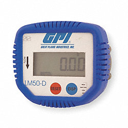 Lube Meter Display, Oval Gear, 1/2 In FNPT