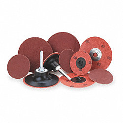 Locking Disc, AlO, 2in, 100 Grit, TR, PK25