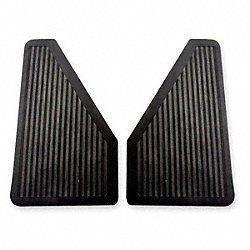 Splash Guards, Black, 7x13 In, PR