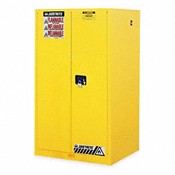 Flammable Safety Cabinet, 60 Gal., Yellow