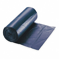Trash Can Liner, 40 to 45 Gal., Blu, PK 100