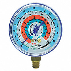 Replacement Gauge, Low Side, Color Blue