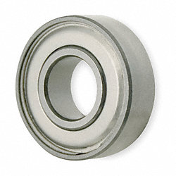 Mini Ball Bearing, Shielded, Bore 0.5000In