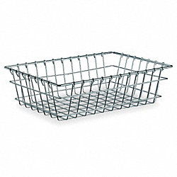 Wire Nesting Basket, Chrome, 12 Lx18 Wx5 H