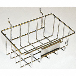 Wire Peg Basket, Yellow, 4 7/8x8x3 3/8