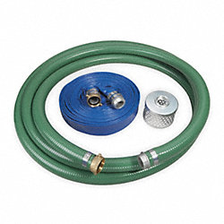 Pump Hose Kit, 1 1/2 In ID, With Strainer