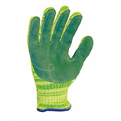 Cut Resistant Gloves, Yellow/Green, S, PR