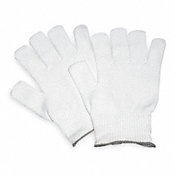 Inspection Glove, White, 8-3/8 In. L, PK 5