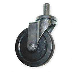 Swivel Stem Caster, 5 In, 280 lb, Rubber