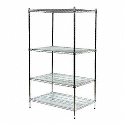 Industrial Wire Shelving, H 63, W 72, D 18