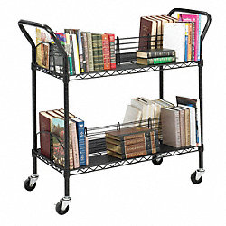 Wire Book Cart, Steel, Black