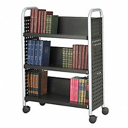 Book Cart, Single-Sided, Black