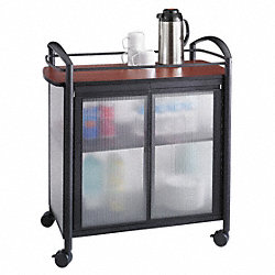 Refreshment Cart, Cherry/Black