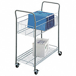 Mail Cart, 16-1/4 In. L, 35 In. W