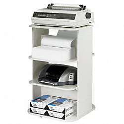 Rotating Double Printer Stand, Gray